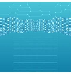 Abstract computer background vector image