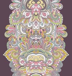 Abstract hand-drawn border pattern Seamless vector