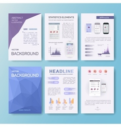 Abstract statistics elements vector image