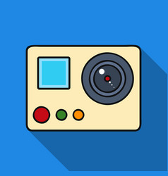 Action camera icon in flate style isolated on vector
