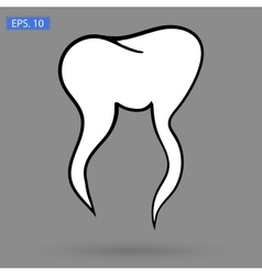 Art tooth Icon vector image