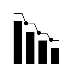 Bars statistics infographic icon vector