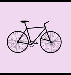 black bicycle icon vector image