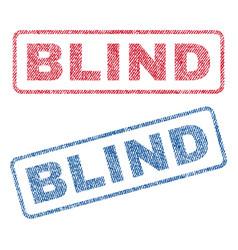 Blind textile stamps vector