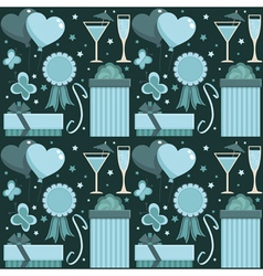 Blue party pattern vector