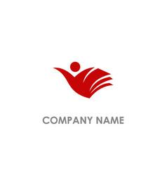 Book student education logo vector