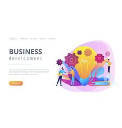 Business idea concept landing page vector