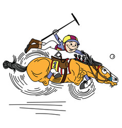 Cartoon polo player vector