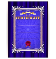 Certificate on textile background vector