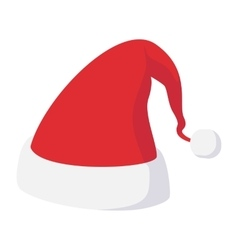 Christmas hat cartoon icon vector