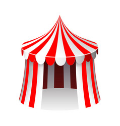 Circus tent isolated 3d realistic cartoon design vector