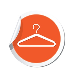 Clothers simbol orange tag vector