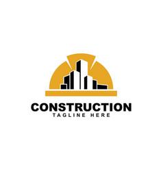 Construction safety helmet logoconstruction logo vector