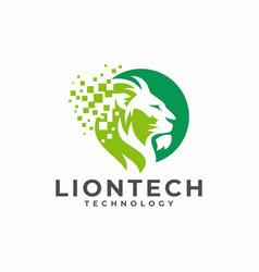 Creative lion head logo design vector