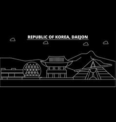 Daejon silhouette skyline south korea - daejon vector
