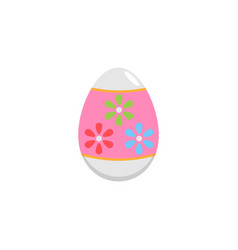 Easter egg flat icon religion holiday elements vector