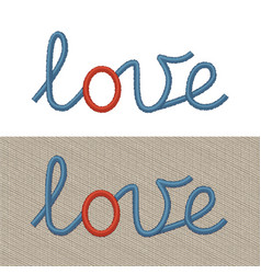Embroidered sign love vector
