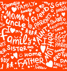 Family seamless pattern for your design vector