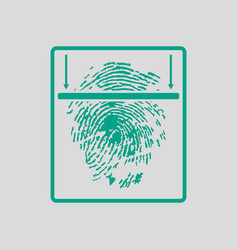Fingerprint scan icon vector