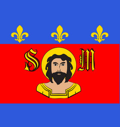 Flag of limoges in haute-vienne of vector