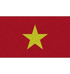 Flags Vietnam on denim texture vector image