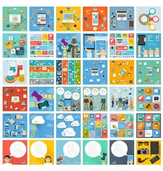 Flat design template set vector image
