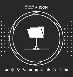 folder sharing icon graphic elements for your vector image
