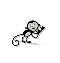 Funny monkey for your design vector image