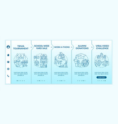 Gathering financial support ideas onboarding vector