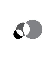 Geometric circles math logo icon design vector