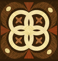geometric wooden inlay template light and dark vector image