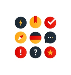 German language courses advertising concept Fluent vector image