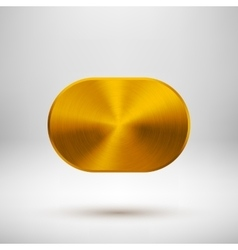 Gold Abstract Button Template vector