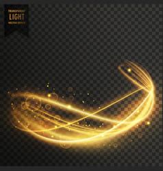 Golden light effect background vector