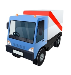 Graphic of Cargo Truck on White Background vector image