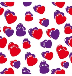 hearts background isolated on white vector image