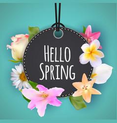 hello spring banner greetings design backgroun vector image