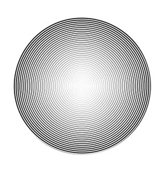 high density thin spiral in a circle 3d sphere vector image