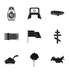Holiday in russia icons set simple style vector