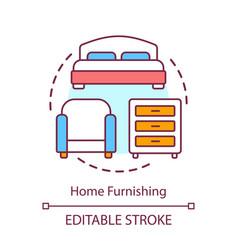 Home furnishing concept icon interior design vector