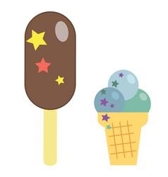 Ice cream on white background vector