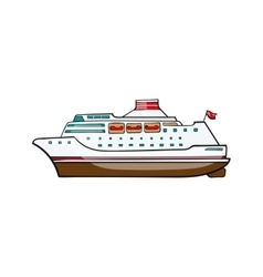 Kids toy ship cruise vector