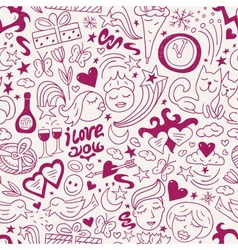 love - seamless pattern vector image