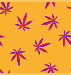 marijuana leaves vibrant seamless pattern vector image