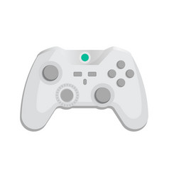 Modern wireless joypad icon in cartoon style vector