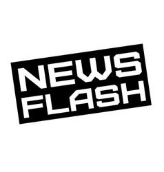 News flash typographic sign vector