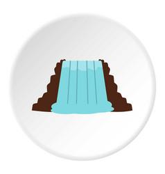 Niagara falls ontario canada icon circle vector