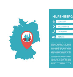 Nuremberg map infographic vector
