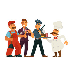 people professions plumber journalist and vector image