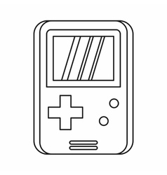 Pocket game icon outline style vector image